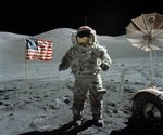The first exploration of the moon, , .